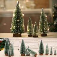 Mini Cedar Tree Christmas Decoration Desktop Window