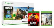 Xbox One S 1TB Fornite Bundle, Red Dead Redemption 2 & Assassins Creed Odyssey