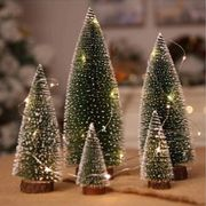 73% off for Simulation Mini Christmas Tree Christmas Desktop 7cm X 15cm