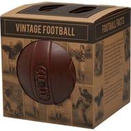 Bargain! Vintage Laced Football Size 5 Dark Brown Vintage at MandmDIRECT