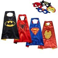 Kids Superhero Capes and Masks Fancy Dress - £11.87 at Amazon!