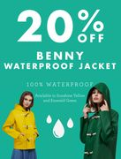 Rain or Shine: 20% off the Benny Waterproof Jacket!