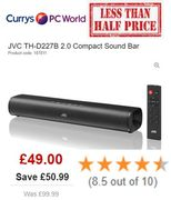 BETTER THAN HALF PRICE: JVC Compact Sound Bar - Was £99.99 Now £49!