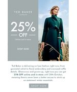 25% off at Ted Baker Sale