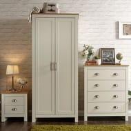 Lancaster Cream 3 Piece Bedroom Furniture Set £289.70 with Code