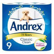 Andrex 9 Pack Toilet Roll - £1