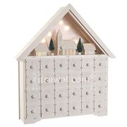 Starry Nights Wooden Advent Calendar (With LED Lights)