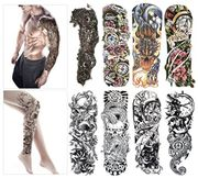 Fashion Temporary Tattoo Transfer Stickers - 8 Sheets Full Arm Size
