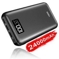 Portable Charger Power Bank 24000mAh High Capacity with Digital Display