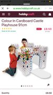 Colour in Cardboard Castle Playhouse