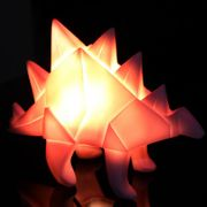 Glow - Weekly Offer - Origami Pink Stegosaurus Dinosaur Lamp