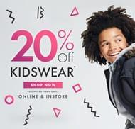20% off Kidswear- Half Term Treats!
