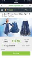 Ice Queen Princess Dress
