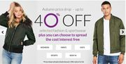 Littlewoods Up to 40% off Selected Fashion and Sportswear Sale