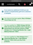 Clinique Offer Stack at Lookfantastic. Great for Stocking Fillers