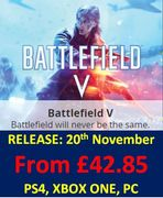 Cheapest UK Price BATTLEFIELD V - out 20th November - LESS THAN 2 WEEKS TO GO!