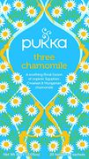 Pukka Three Chamomile Herbal Tea Bags - Organic & Fair Chamomile