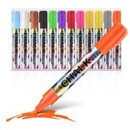 12 Pcs Chalk Markers Pen Non Toxic Wet Wipe Erasable Pen