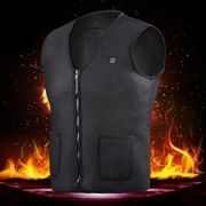 Electric USB Winter Heated Warm Vest Men Women Heating Coat Jacket Clothing