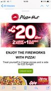 Firework Pizza Deal 2 Large Pizza and a Side