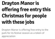 Free Drayton Manor Park Entry This Xmas for British Armed Forces