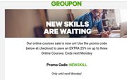 Save an Extra 25% off ONLINE COURSES at Groupon
