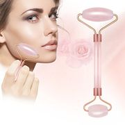 Quartz Anti-Aging Rose Jade Roller with Gua SHA Scraping Massage Tool Set