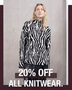 [20% off All knitwear.]