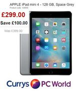 SAVE £100 - 25% off APPLE iPad Mini 4 - 128 GB, Space Grey