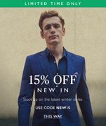 £10 off First Orders over £50 with Email Sign-Ups at Moss Bros