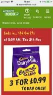 MEGA DEAL Cadbury Dairy Milk Caramel Nibbles 120g