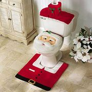 3 Pcs Christmas Xmas Dcor Toilet Seat Covers - Santa FREE DELIVERY