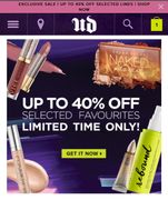 Urban Decay Sale. Upto 40% off Selected Items