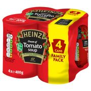 4 X 400G Heinz Cream of Tomato, 39%off