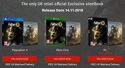 FALLOUT 76 - Exclusive Steelbook - from £42.85