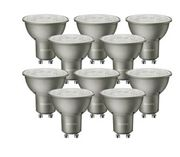 Philips LED Silver Spotlight Bulbs - 5W GU10 - Pack of 10 Only £10