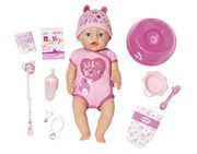 Baby Born Soft Touch-Girl with Blue Eyes Interactive Function Doll, 43cm