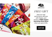 Free Origins Hydrating Sheet Mask with £35 Spend at Look Fantastic