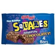HALF PRICE Kelloggs Rice Krispie Squares Chocolate 4 Bars