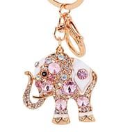 Elephant Rhinestone Keyring