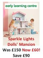 SAVE £90! ELC Sparkle Lights Dolls House Mansion WAS £150 NOW £60