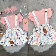 Animal & Flower Tutu Dress Set