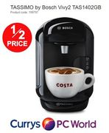 HALF PRICE. TASSIMO by Bosch Vivy2 TAS1402GB Hot Drinks Machine