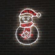 1.1m Large Outdoor Snowman Motif - Twinkle LEDs 20% Off