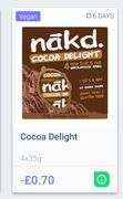 70p off Nakd Cocoa Delight via GreenJinn App