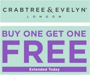 BUY ONE GET ONE FREE at Crabtree & Evelyn TODAY!