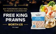 Buy Daily Mail 13/11 for Free £5 Prawns Coupon with £35 spend