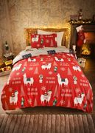 100% Cotton Llama & Sloth Reversible Christmas Bedding Set Only £11.25