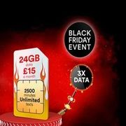 Virgin SIM Only Deal 24GB Data, 2500 Minutes, Unlimited Texts