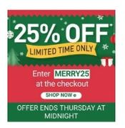 EXTRA 25% off Your Christmas Shopping at BuyAGift